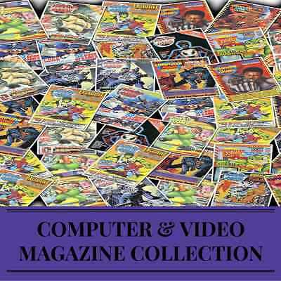 Computer & Video Games 126 Issues Amiga Nintendo Sega Retro Gaming Magazines DVD