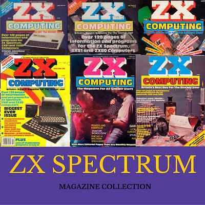 ZX SPECTRUM MAGAZINE! Collection - 37 ISSUES! ZX Spectrum, Retro Gaming on 1 DVD