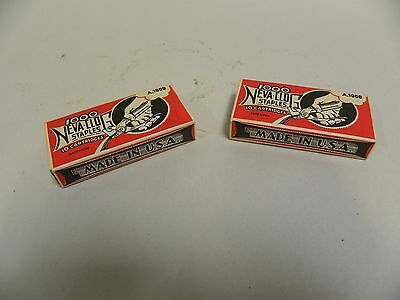 "Lot ""2"" Boxes Vintage Neva-Clog Staples Advertising Boxes (A4)"