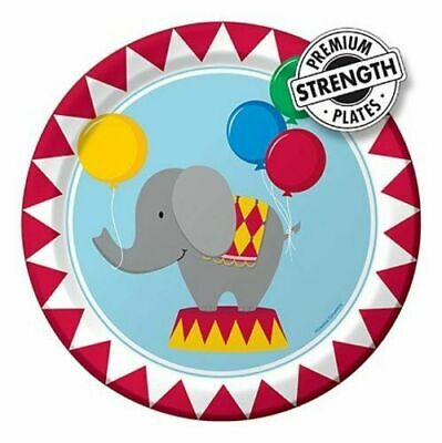 """Creative Party Circus Time Paper Plates 9"""" Pack of 8"""