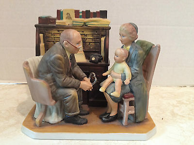 "Norman Rockwell ""First Anual Visit"" GORHAM RW-31 Figurine First Annual Visit"