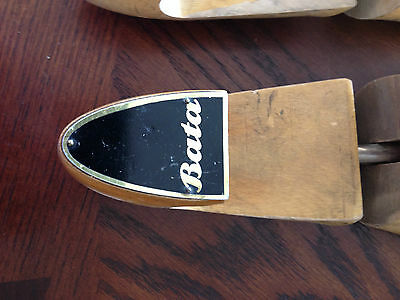 Vintage Pair BATA Wooden Shoe Mold