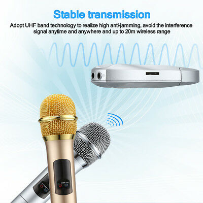 Pro Wireless+Wired Microphone 10 Channel UHF Handheld Receiver MIC Support APP