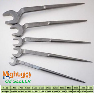 Industrial Single Podger Offset Open Spanner Construction Wrench w Pin (17-55mm)