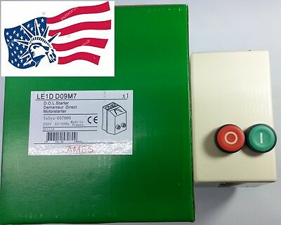 New Schneider LE1D09M Replacement for AMES LE1DD09M Motor Magnetic Starter 220V