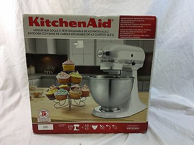 Kitchenaid Classic Series 45 Quart Tilt Head Stand Mixer beautiful kitchenaid classic white 45 qt stand mixer k45sswh w