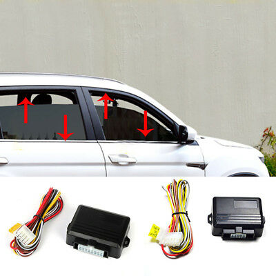 Universal Auto Safety Power Window Roll Up Closer Module for 4 Door Cars 12V