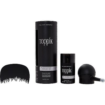 NEW! TOPPIK Grey Hair Building Fibres Starter Kit EVERYTHING YOU NEED