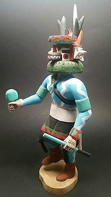 VINTAGE Authentic Hopi Tribe Kachina Doll ANTELOPE Signed Deloria Adams 15-1/2""
