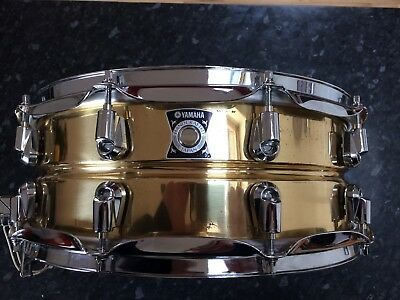 Yamaha oak custom snare drum 14x5 5 silver caisse for Yamaha stage custom steel snare drum 14x6 5