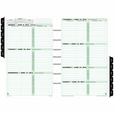 "Day Timer Refill 2018, Two Page Per Week, January 2018 December 5 1 2"" x 8."