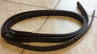 """46"""" Youth Pony Brown English Stirrup Leathers"""