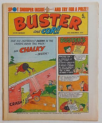 BUSTER and COR Comic - 14th December 1974
