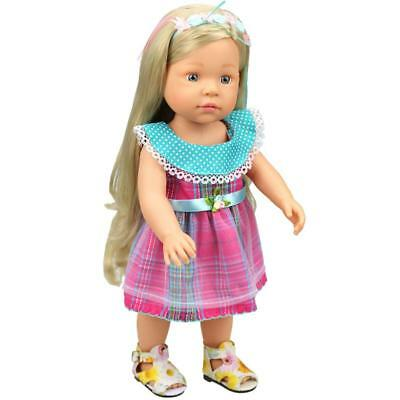 Plaid Sleeveless Party Dress Clothes for 18'' American Girl AG Journey Dolls