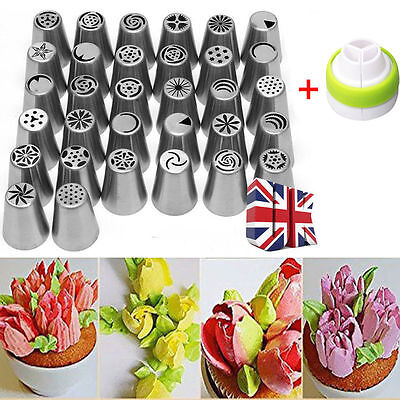 7-32 Easy Flower Piping blossom Tool Cake Cupcake Icing nozzles Tips Rose Tulip