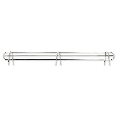 "Wire Shelving Back Support, 36"" Wide, Silver, 2 Supports/pack"