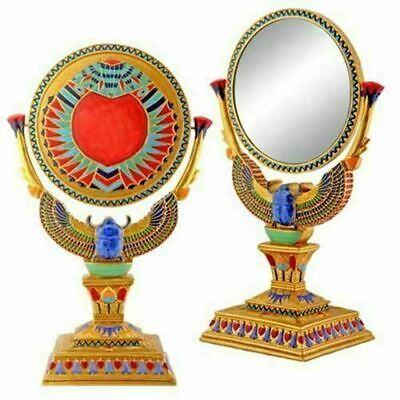Summit Winged Egyptian Scarab Counter Top Mirror with Stand Ancient Egypt Decor