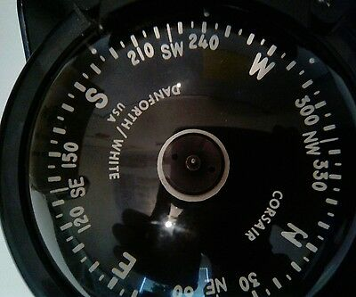 Danforth White Corsair Compass For Small Boats Marine Compass