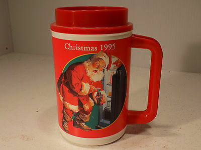 Coca Cola Collectible Thermos cup 1995 Christmas Edition Never Used