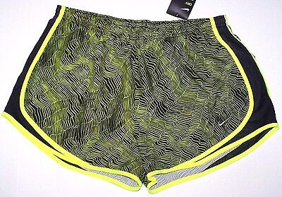 Nwt New Nike Tempo Running Shorts Short Dri-fit Inner Panty Black Print Women