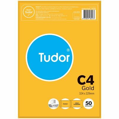 Bulk Buy - 3 x Tudor Premium C4 Business Envelopes Kraft 50 Pack