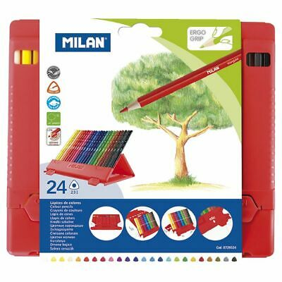 Milan Fibrebox Coloured Pencils 24 Pack