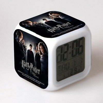 1x Harry Potter Hermione Voldemort Alarm Clock 7-Color Chainging Alarm Kid Gift
