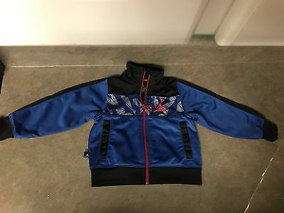 Toddler Boys JORDAN TRACK Jacket Black/Blue/Red Size 2T