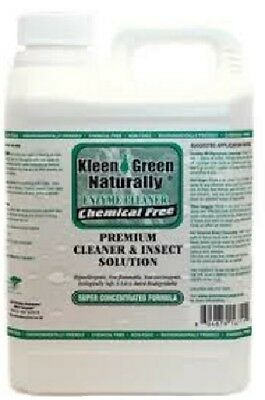 KLEEN GREEN NATURALLY 64 oz CONCENTRATE ENZYME CLEANER ANTI SCABIES LICE INSECTS