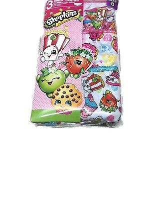 Shopkins Little Big Toddler Girls Briefs Underwear 3 Pairs of Panties Sizes 4-6-