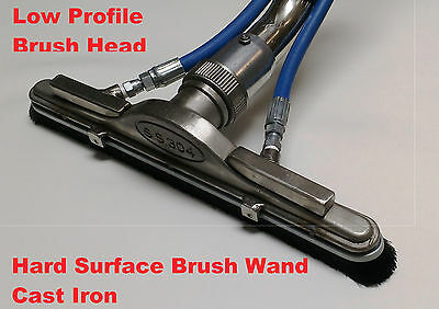 Hard Surface Scrubber Wand Tile Grout carpet cleaning Brush Cast Iron LP