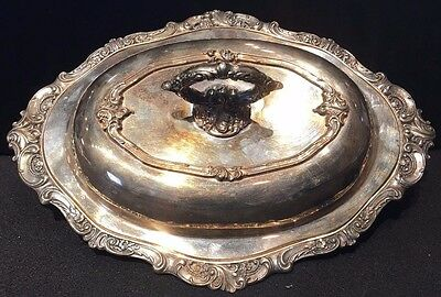 Baroque Wallace Silverplate Double Vegetable Bowl With Lid