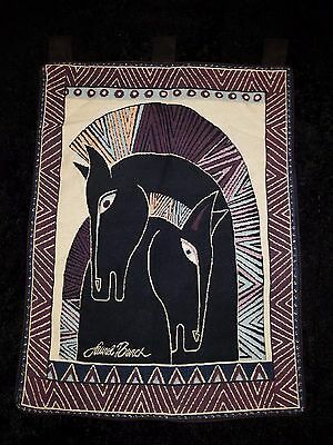 Laurel Burch collection two horses embracing wall hanging tapestry