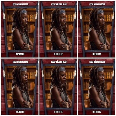 6x THE HILLTOP RED MICHONNE The Walking Dead Card Trader Digital