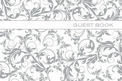 Ozcorp Guest Book Silver Linework 250x160mm - 64 Pages