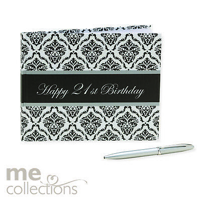 Guest Book With Pen 21st Birthday - Unisex