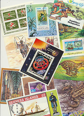 Topical Worldwide colorful Foreign Souvenir Sheets Collection 13 Different