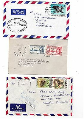 SOLOMON ISLANDS 1946/86 Group of Covers    ( 3 items )