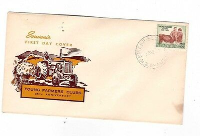 Australia 1953 Young Farmers FDC, cds BRICKFIELD  HILL NSW