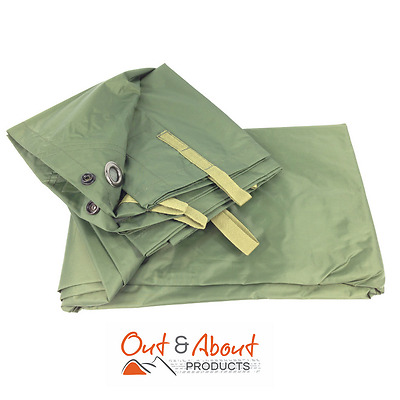 Olive Hootchie Hoochie Tarp Military Shelter Tent Ground Cover 100% Waterproof