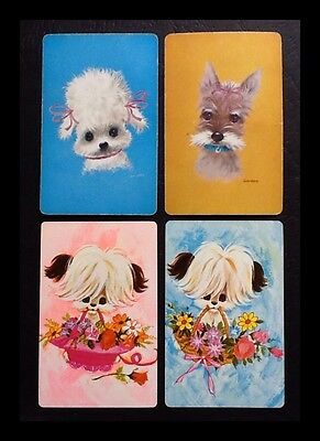 Dogs  - Vintage Swap Playing Cards