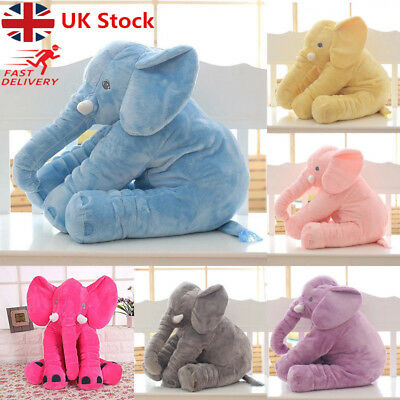 Long Nose Plush Elephant Doll Pillow Soft Stuff Toy Lumbar Pillow For Baby Kids