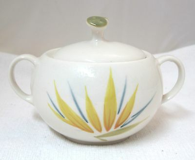 Bird of Paradise Winfield China Pottery California Sugar Bowl Lid Excellent Shap