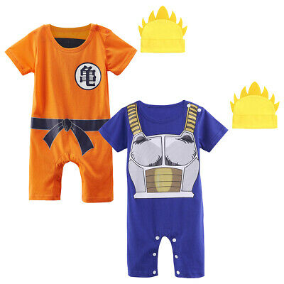 Christmas Baby Boys Dragon Ball Z Romper Newborn Goku Anime Costume with Hat
