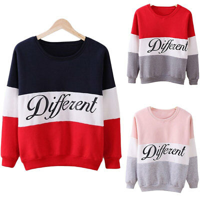Women Autumn Winter Casual Hoodie Sweater Different Printed Mix Color Sweatshirt