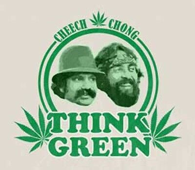 Cheech and Chong Think Green  Vinyl Sticker
