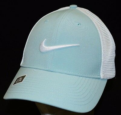 ed1722f42a1 Nike Golf Legacy 91 Tour Mesh Fitted Golf Hat Cap 727031 Light Blue Sz L