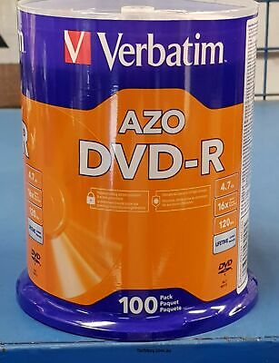 Verbatim DVD-R 4.7GB/16X - 100 Pack Spindle