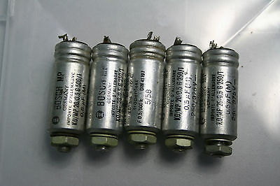 3x Vintage 0,5 µf Bosch MP20 capacitors from year 1957/58