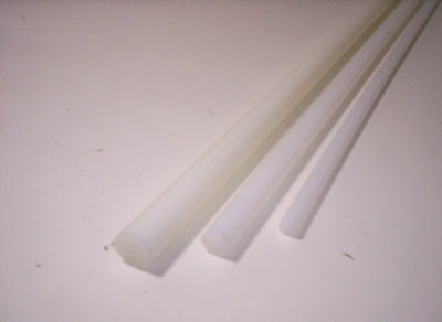 6512) PE, Polyethylene, White/Natural, Round Rod, Ø 10mm, 15mm and 20mm